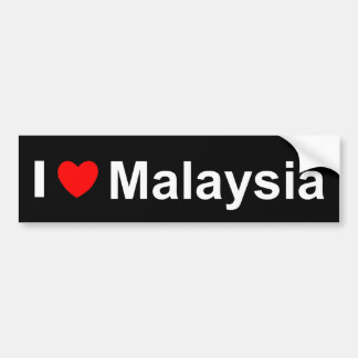 Pegatina Para Coche Amo el corazón Malasia