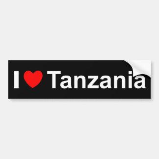 Pegatina Para Coche Amo el corazón Tanzania