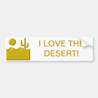 Pegatina Para Coche Amo el desierto