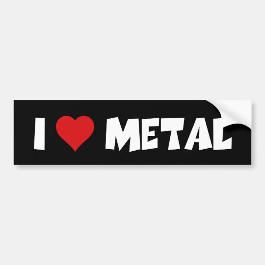 Pegatina Para Coche Amo el metal