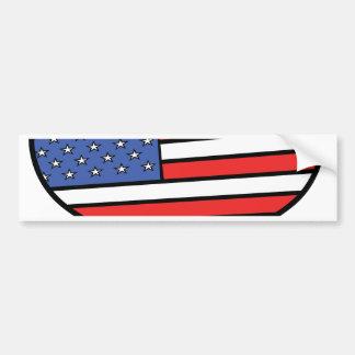 Pegatina Para Coche Amo el orgullo de América - de los Estados Unidos