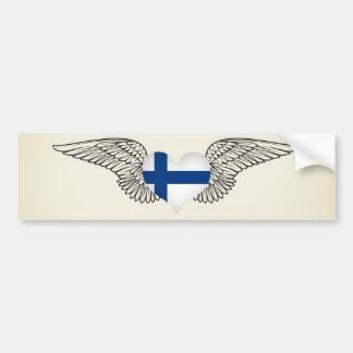 Pegatina Para Coche Amo Finlandia - alas