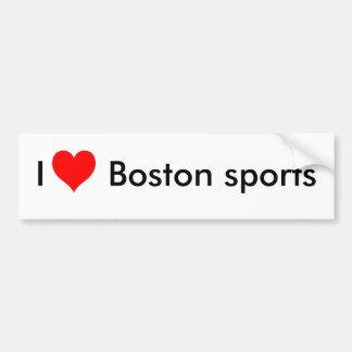 Pegatina Para Coche Amo los deportes de Boston