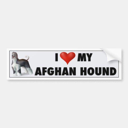 Pegatina Para Coche Amo mi afgano AH1