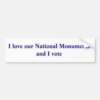 Pegatina Para Coche Amo nuestros monumentos nacionales y voto