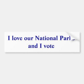 Pegatina Para Coche Amo nuestros parques nacionales y voto