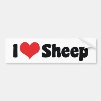 Pegatina Para Coche Amo ovejas del corazón