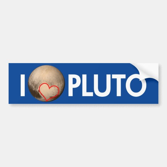 Pegatina Para Coche Amo Plutón