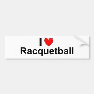 Pegatina Para Coche Amo Racquetball del corazón