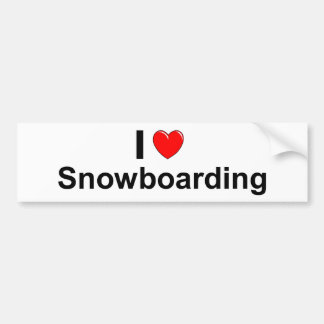 Pegatina Para Coche Amo snowboard del corazón