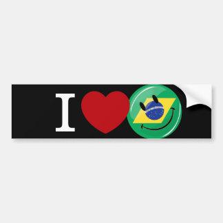 Pegatina Para Coche Amor de la cara sonriente del Brasil