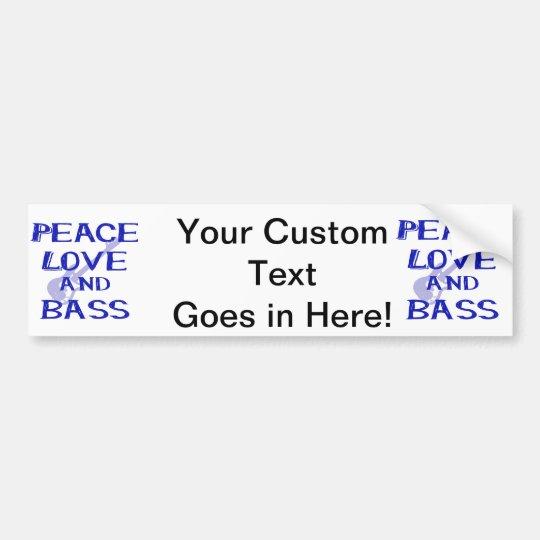 Pegatina Para Coche amor de la paz y guitarra azul del bernice w del
