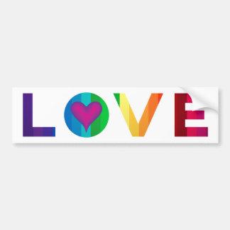 Pegatina Para Coche Amor del arco iris