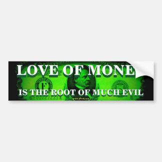 Pegatina Para Coche Amor del dinero