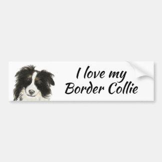 Pegatina Para Coche Amor del perro del border collie mi cita