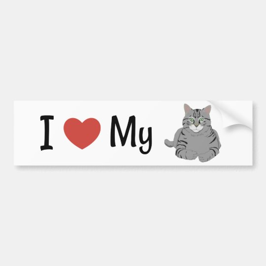 Pegatina Para Coche Amor lindo de I mi gato