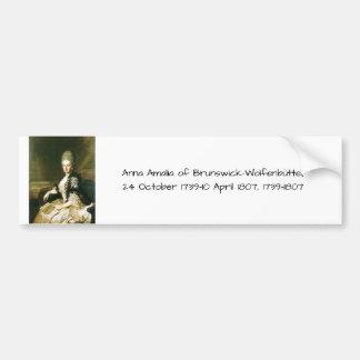 Pegatina Para Coche Ana Amalia de Brunswick-Wolfenbuttel 1739-1807