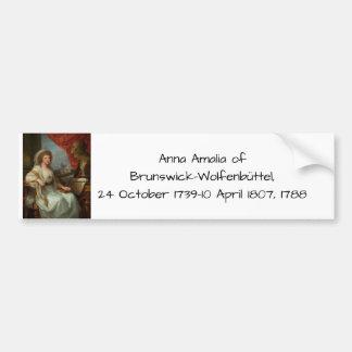 Pegatina Para Coche Ana Amalia de Brunswick-Wolfenbuttel 1788