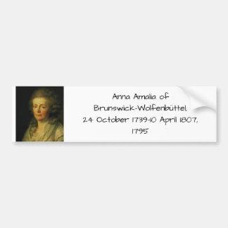 Pegatina Para Coche Ana Amalia de Brunswick-Wolfenbuttel 1795