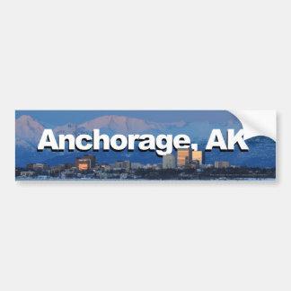 Pegatina Para Coche Anchorage Alaska con Anchorage en el cielo