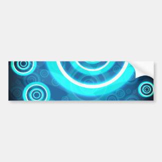 Pegatina Para Coche Anillos cósmicos que brillan intensamente del azul