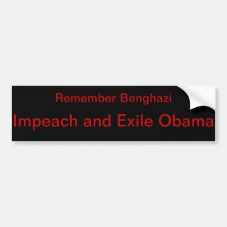 Pegatina Para Coche Anti-Obama Bengasi