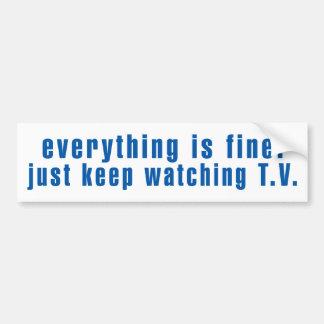 Pegatina Para Coche Apenas guarde el ver de la TV