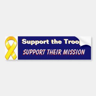 Pegatina Para Coche Apoye a las tropas apoyan a sus militares de la