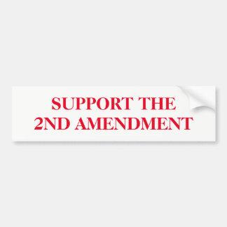 Pegatina Para Coche Apoye la segunda enmienda