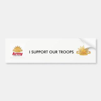 Pegatina Para Coche apoyo a nuestras tropas