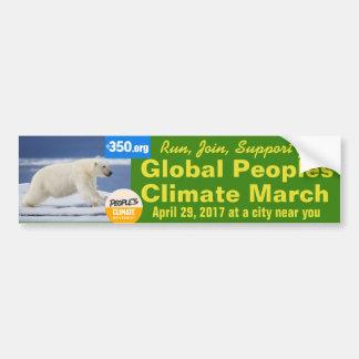 Pegatina Para Coche Apoyo del clima marzo de la gente en Washington
