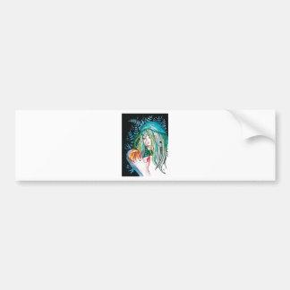 Pegatina Para Coche Árbol de hoja perenne - retrato de la acuarela