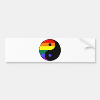 Pegatina Para Coche Arco iris Yin y Yang - colores del arco iris del