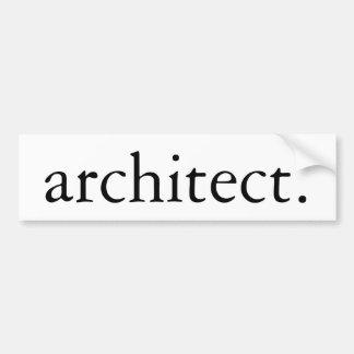 Pegatina Para Coche Arquitecto