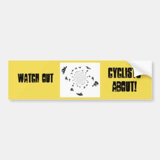Pegatina Para Coche Arte abstracto de la raza de bicicleta