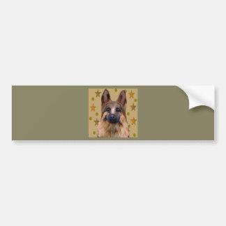 Pegatina Para Coche Arte del soldado del pastor alemán