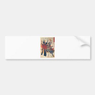 Pegatina Para Coche Arte japonés fresco de Sun que ampolla del
