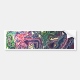 Pegatina Para Coche Arte topográfico IV del papel seda