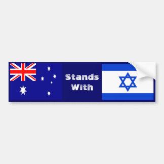Pegatina Para Coche Australia se coloca con Israel