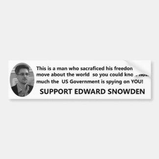 Pegatina Para Coche Ayuda Edward Snowden