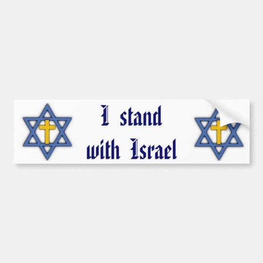 Pegatina Para Coche Ayuda judía cristiana para Israel