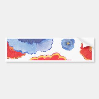 Pegatina Para Coche Azul y papel pintado de Red_Floral