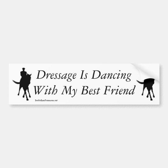 Pegatina Para Coche Baile del Dressage con mi caballo del mejor amigo