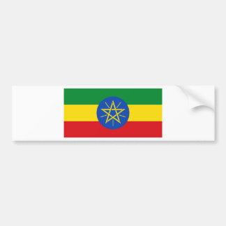 Pegatina Para Coche ¡Bajo costo! Bandera de Etiopía