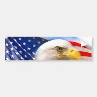 Pegatina Para Coche Bandera americana con Eagle calvo