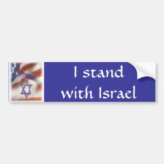 Pegatina Para Coche Bandera americana e israelí que me coloco con