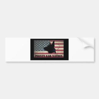 Pegatina Para Coche Bandera BlackBkg de la PLUMA