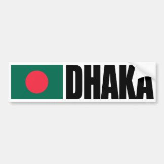 Pegatina Para Coche Bandera de Dacca Bangladesh