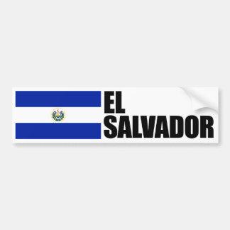 Pegatina Para Coche Bandera de El Salvador