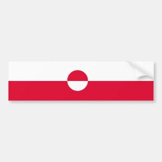 Pegatina Para Coche Bandera de Groenlandia